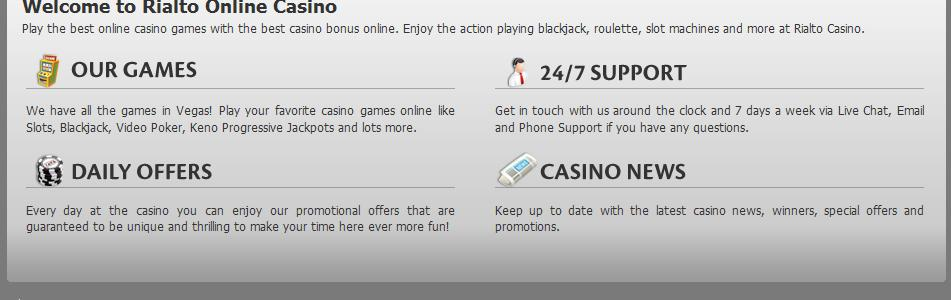 Rialto Casino - US Players Accepted!